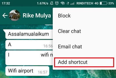 How to Create Shortcut to Easily Open Chat with Specific Contact or Group on WhatsApp
