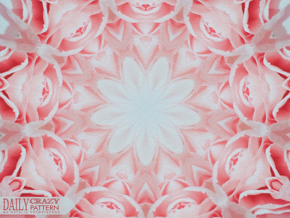 "Delicate circular pink pattern for ""Daily Crazy Pattern"" project 