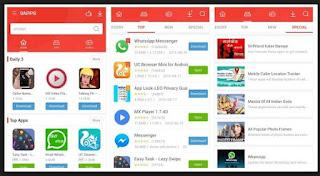 tampilan aplikasi 9apps terbaru
