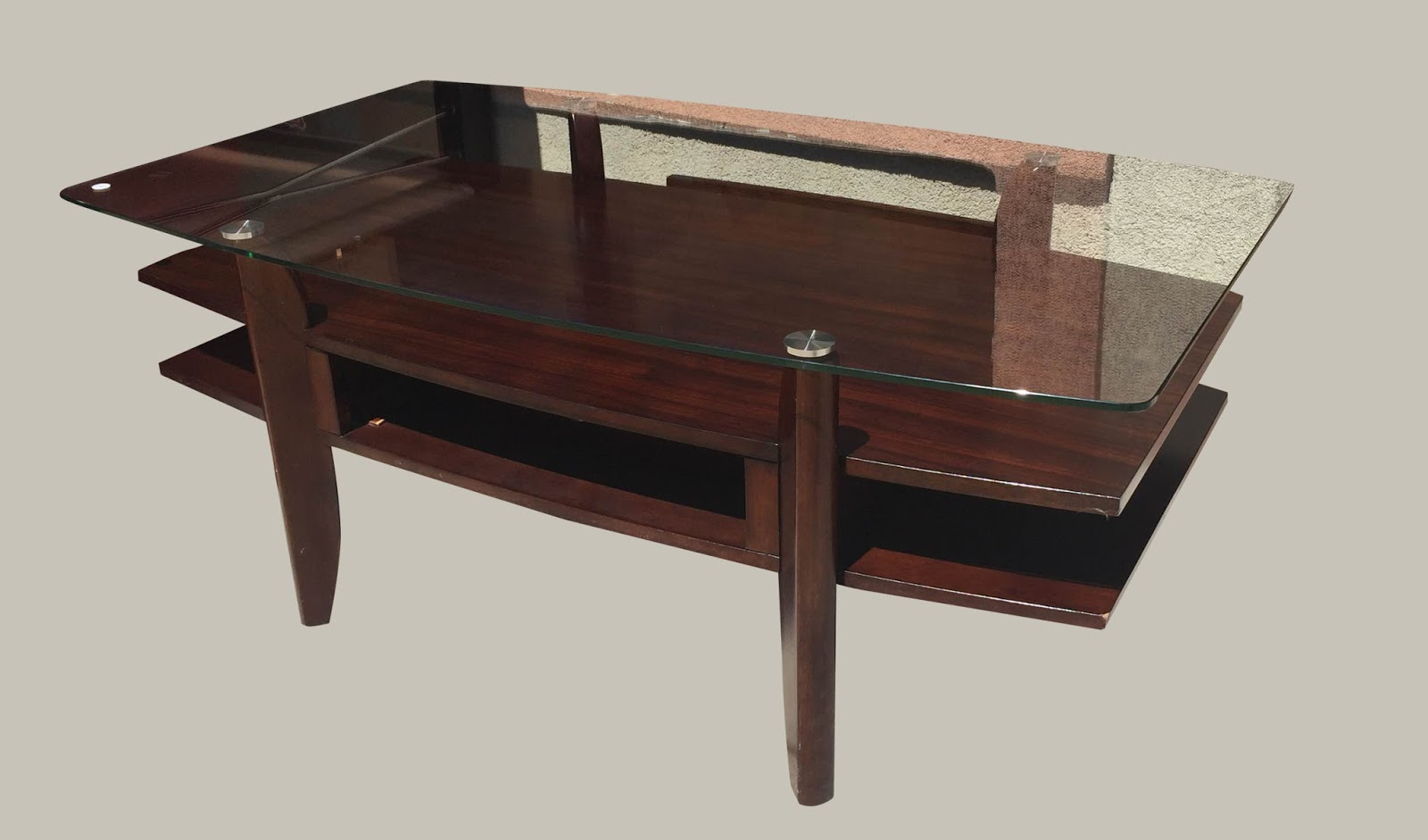 Uhuru furniture collectibles 3 level coffee table with for 2 level glass coffee table