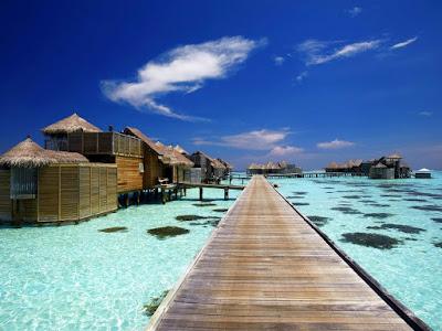 Hotel de lujo en las Islas Maldivas