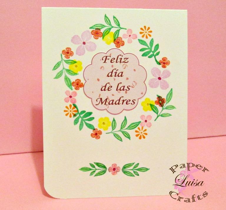 Luisa PaperCrafts: Tarjetas Clean and Simple para Mamá