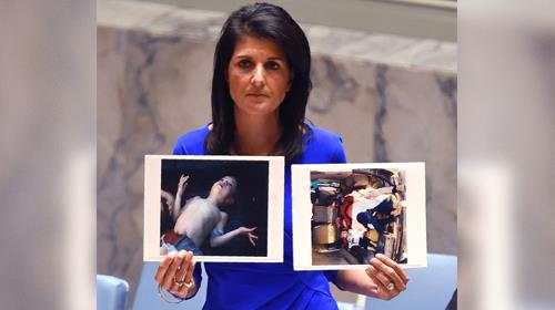 Nikki Haley Slams 'Assad, Russia And Iran' In United Nations Speech