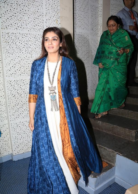 Raveena Tandon in Long Dress at Announced As The Brand Ambassador Of Nanavati Hospital