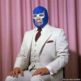 mascara de luchador el blue demon