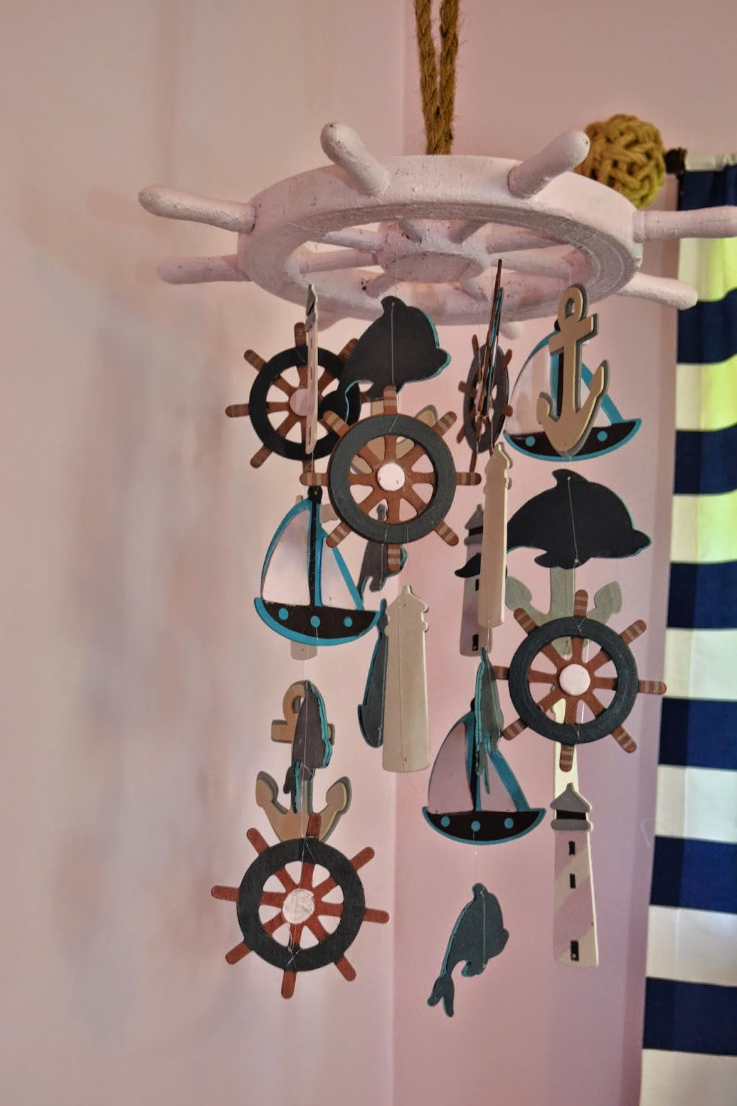 Nautical Baby Boy Room: Manic Mama Miles: Nautical Nursery DIY Baby Mobile