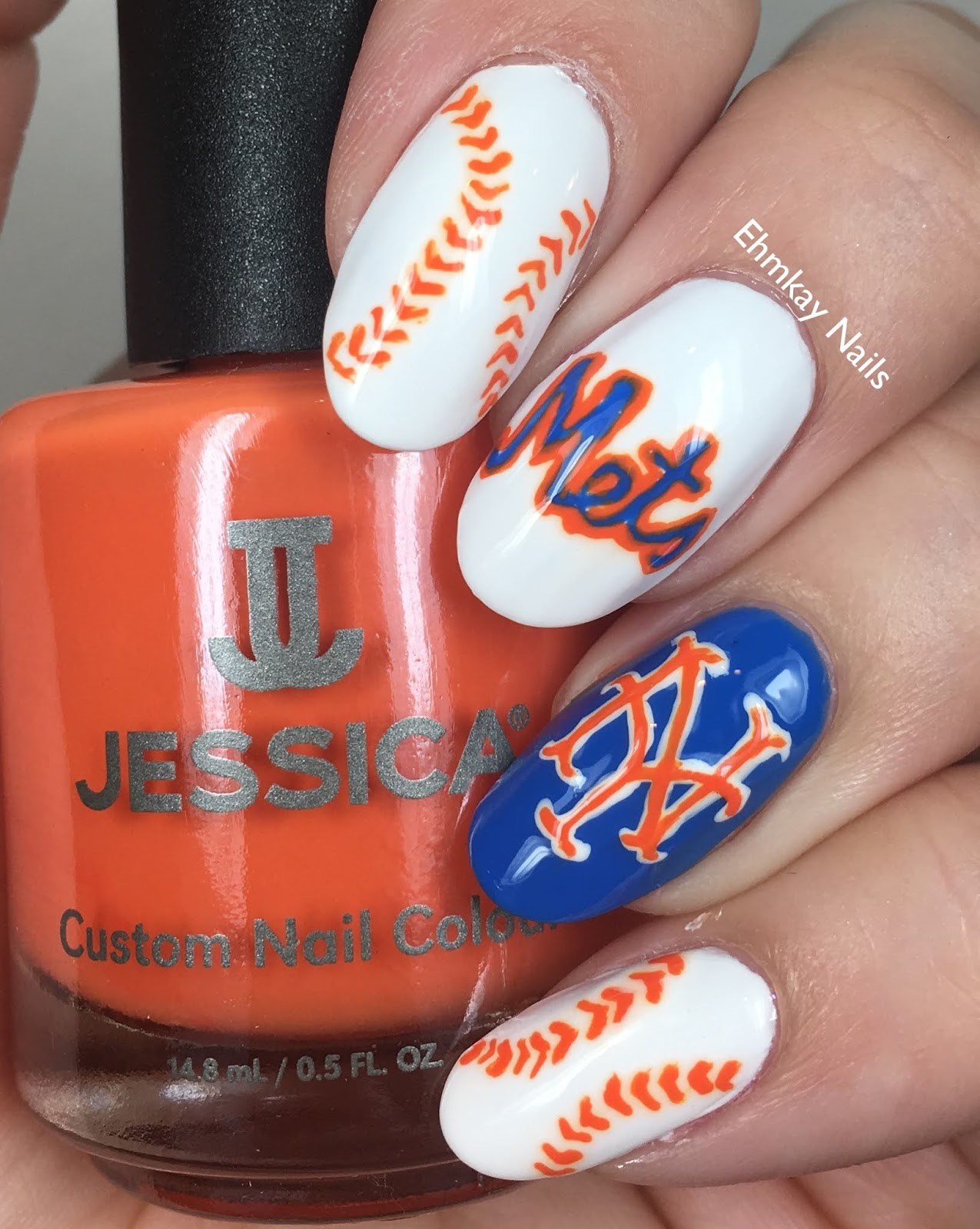 ehmkay nails: New York Mets Nail Art