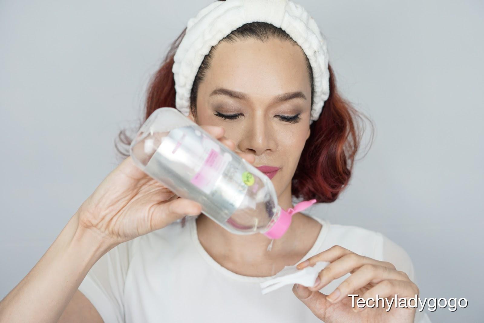 รีวิว Garnier Micellar Cleansing Water  น้ำเช็ดหน้าการ์นิเย่ สูตรสีชมพู เช็ดเดียวจบ สะอาดครบทั้งหน้า ไม่ต้องถู