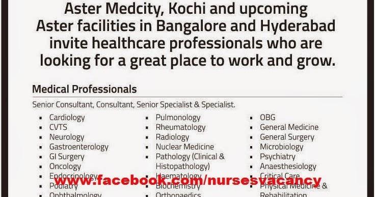 NursesVacancy.com: NURSES VACANCY IN ASTER MEDICITY