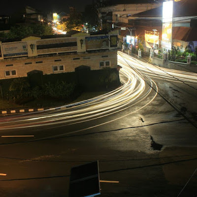 contoh foto segitiga exposure shutter speed rendah