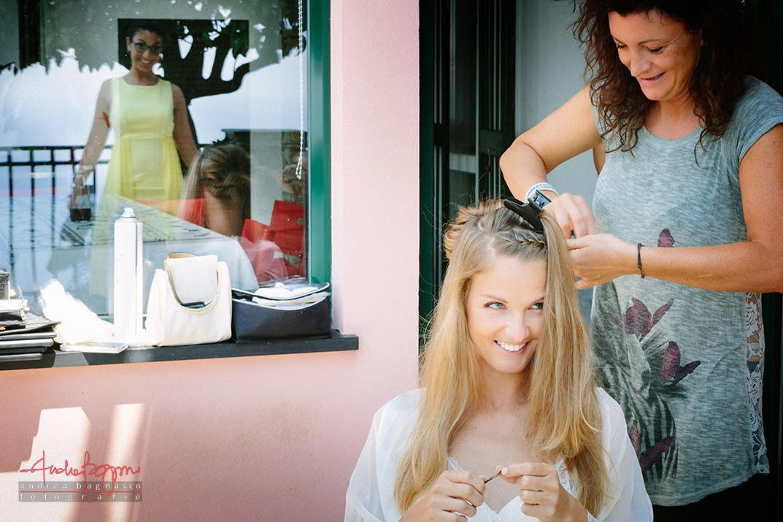 parrucchiera preparazione sposa Pieve Ligure