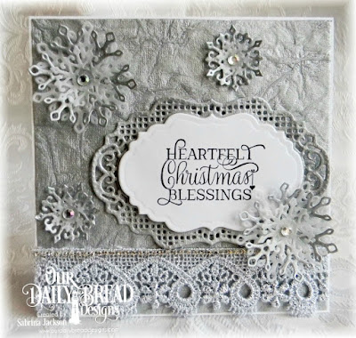 Our Daily Bread Designs Stamp Set: Christmas Tunes, Our Daily Bread Designs Custom Dies: Vintage Borders, Vintage Labels, Snow Crystals