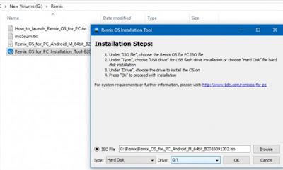 Cara Instal Remix Os Dual Boot Android Dan Windows 2