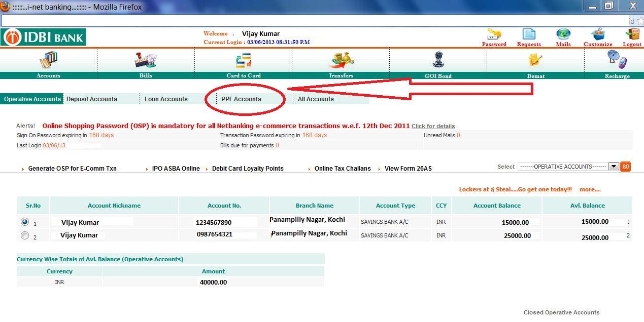 idbi+PPF+online+access+1 Job Application Form Of Hdfc Bank on branch bkc, ltd company, india logo, ltd logo, personal loan, logo download, limited logo,