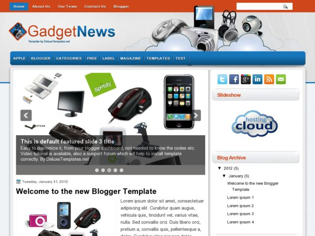 GadgetNews Blogger Template