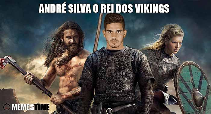 """GIF Memes Time… da bola que rola e faz rir - O jovem André Silva fez o seu primeiro """"hat-trick"""" com a camisola da Seleção de Portugal, no jogo Ilha Faroé 0 - 6 Portugal, a contar para o Grupo B de Apuramento para o Rússia 2018 – André Silva o Rei dos Vikings."""
