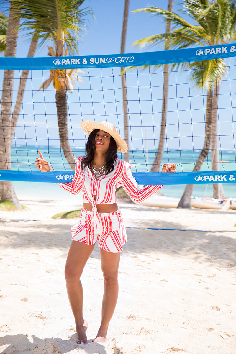 Lovers and Friends stripe top and short, vacation style, www.jadore-fashion.com