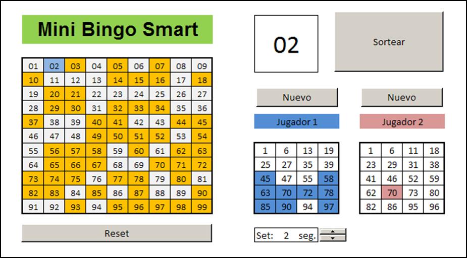 Mini Aplicaciones En Excel Mini Bingo Smart Cont