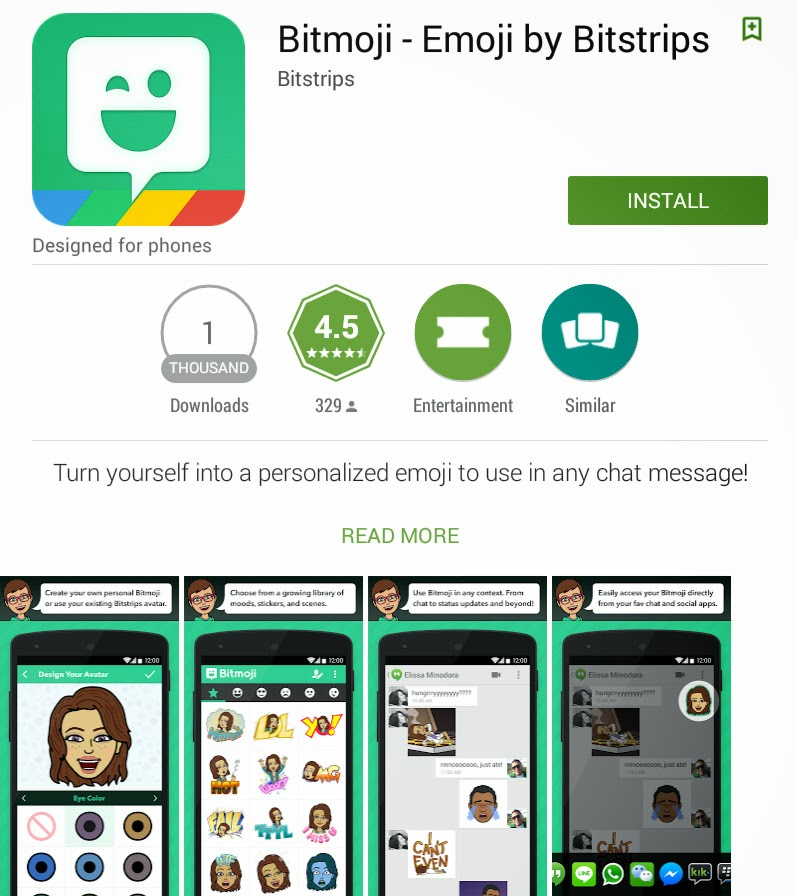 205f7159b0e FREE APP] [Android] Bitmoji - Own Personal Emoji - Android For Life