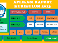 Download Aplikasi Raport SD Kurikulum 2013 File Excel
