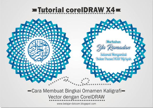 Cara Membuat Bingkai Ornamen Kaligrafi Vector dengan CorelDRAW - ornamen vector .cdr, ornamen vector free, ornamen vector.png, download ornamen .cdr, tutorial coreldraw profesional, cara membuat hiasan acara ramadhan, cara membuat spanduk dalam ranga menyambut bulan puasa, banner bulan puasa, kaligrafi keren, kaligrafi biru, cara membuat desain kaligrafi di corel, belajar coreldraw, tutorial coreldraw x4 untuk profesional, tutorial coreldraw keren, download vector gratis.