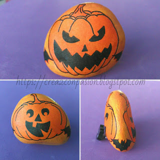 Pisapapeles-piedra-decoupage-calabazas-halloween