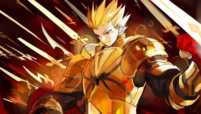 Gilgamesh Adalah Karakter Antagonis Terkuat Di Anime Fate Series Zero Ubw Dan Stay Night Kekuatan Terbesar Terletak Pada Noble Phantasm