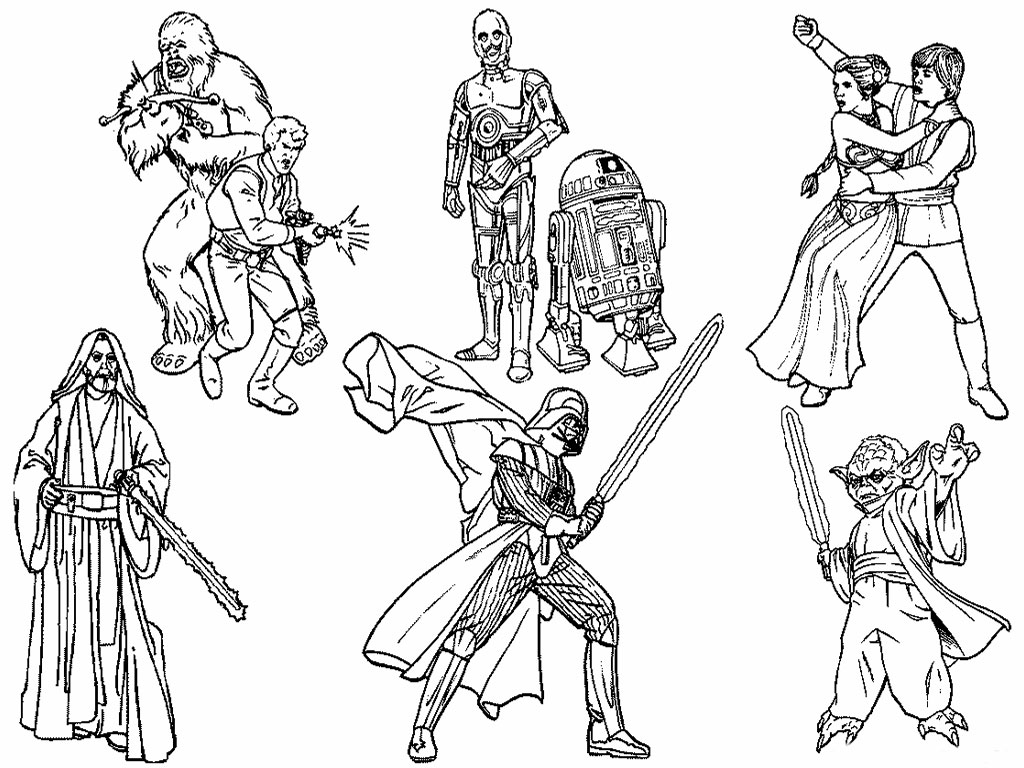 Black And White Star Wars Coloring Pages Coloring Page