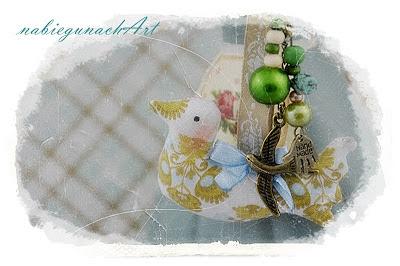 Brelok z Zielonym ptaszkiem