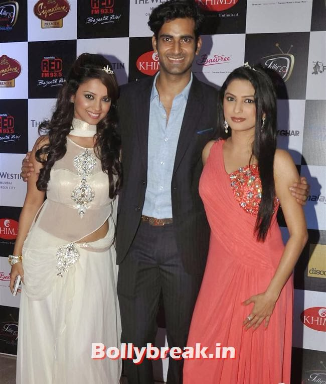 Sunny Arora, Director Marinating Films along with Rucha Hasabnis and Ada Khan, Tv babes at Telly Calendar 2014 Launch