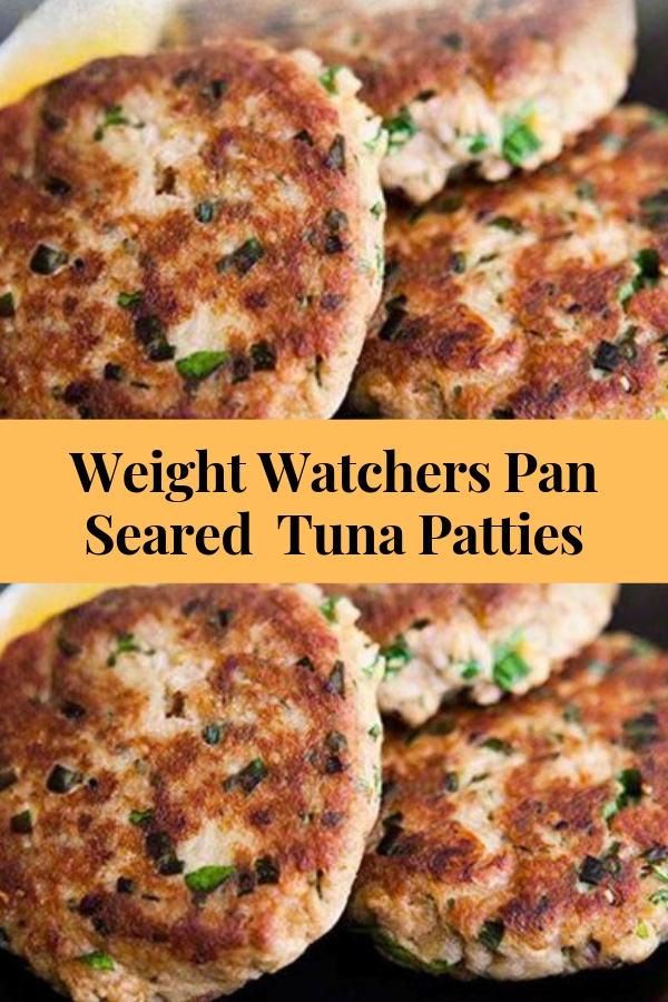 Weight Watchers Pan Seared  Tuna Patties #weightwatchers #tuna #lunch