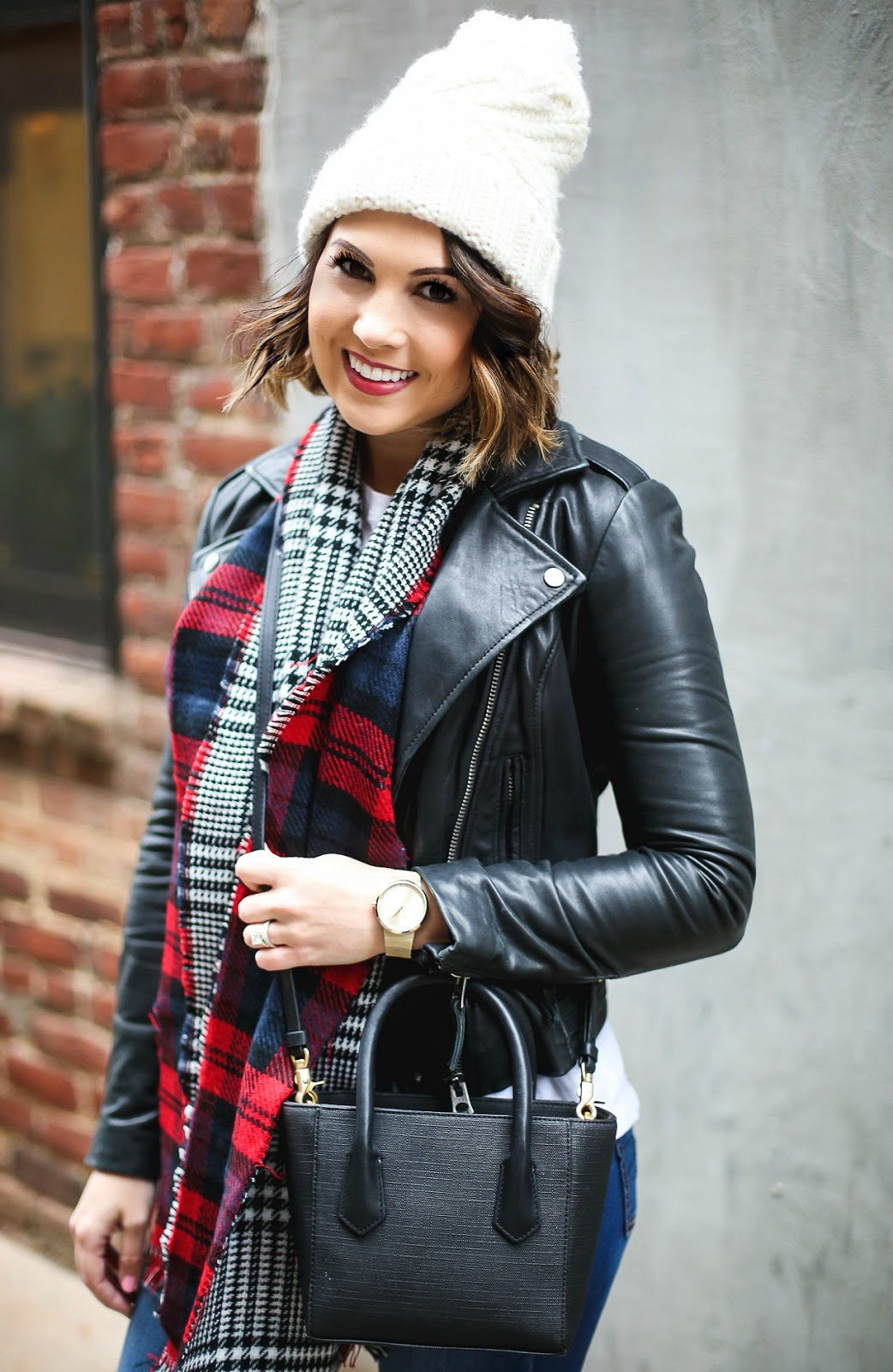 leather moto jacket streetstyle outfit