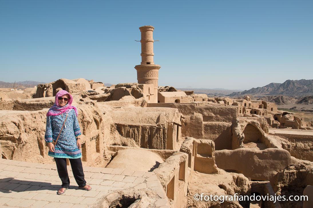 Kharanaq cerca de Yazd en Iran