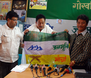 Gaulan Lepcha at GJMM's office, Patlebas, Darjeeling