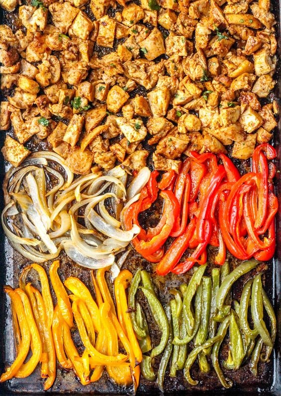 Sheet Pan Chicken Burrito Bowls