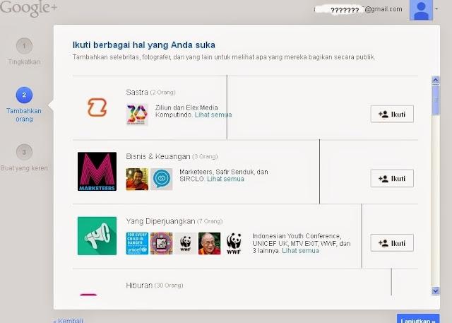 Profil Google+ Pengaturan Lanjutan
