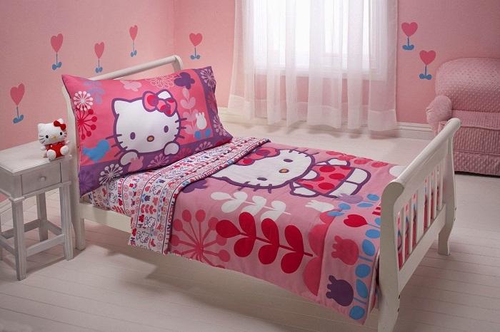 Desain Kamar Tidur Hello Kitty Terbaru Idaman
