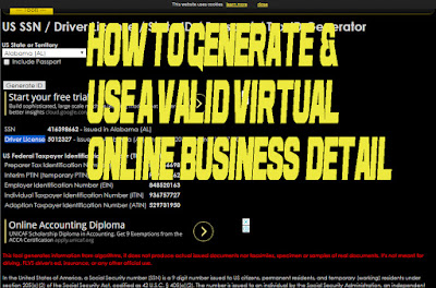 how to generate and use virtual business details online