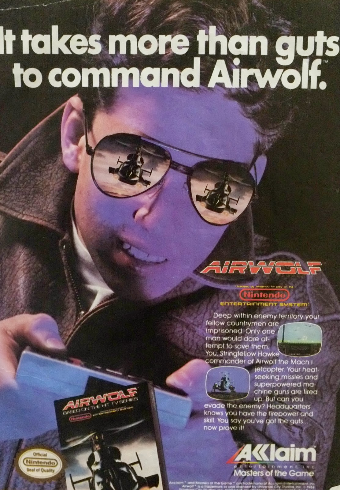 Airwolf for NES advertisement