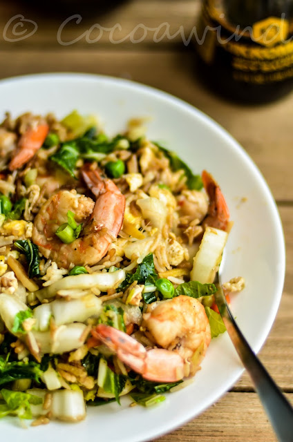 Soy-Ginger Shrimp Fried Rice with Bok Choy - Cocoawind