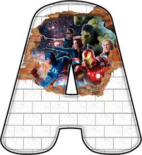 Abc Avengers. Vengadores Abc.