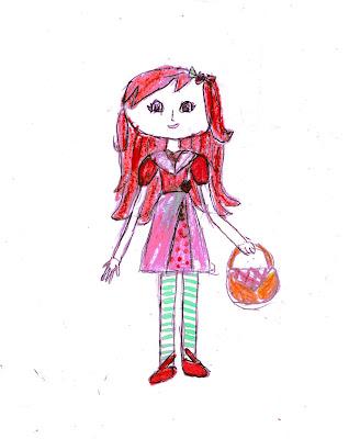 Шарлотта Земляничка, детский рисунок