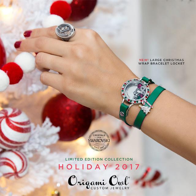 origami owl large christmas wrap bracelet locket origami