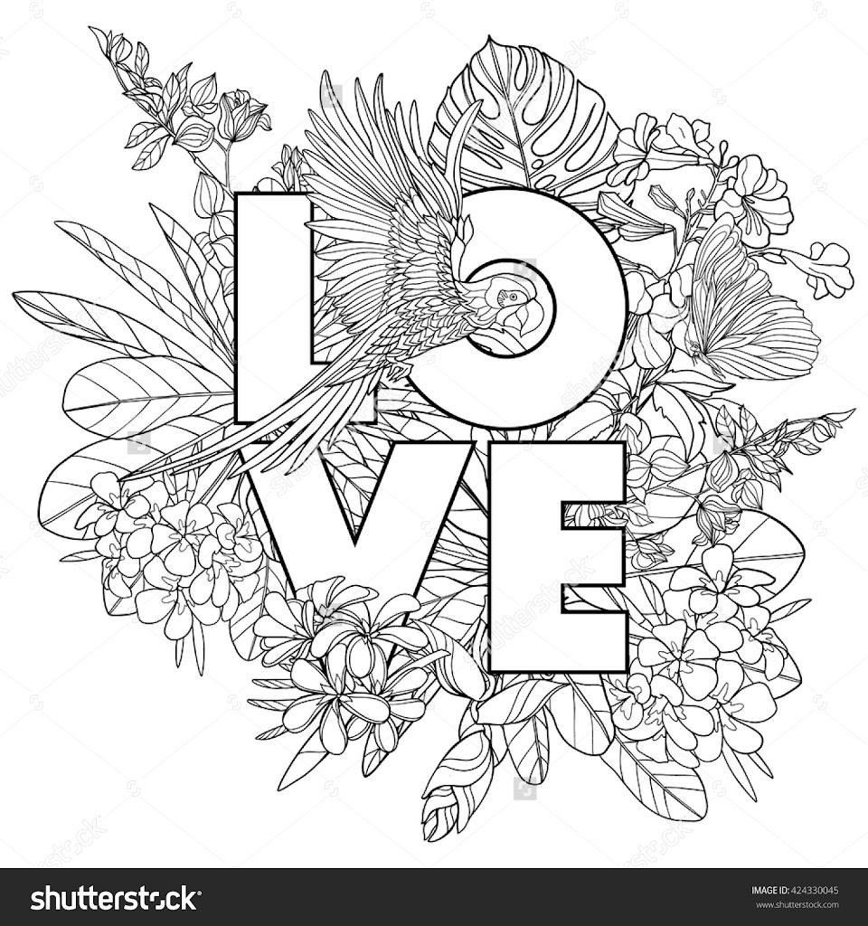 Tropical waterfall free colouring pages for Tropical coloring pages