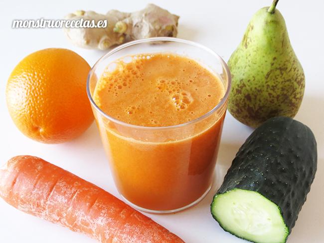 Zumo antioxidante de naranja y zanahoria