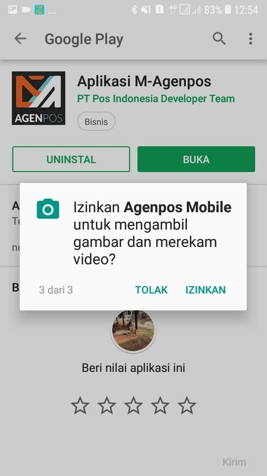 Aplikasi M-agen pos mobile PT Pos  indonesia