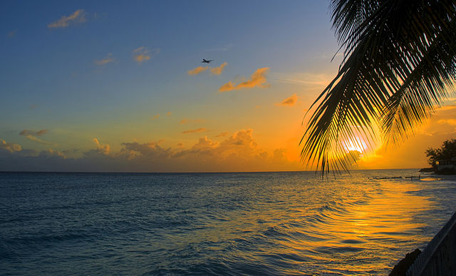 A Special Caribbean Sunset at Barbados