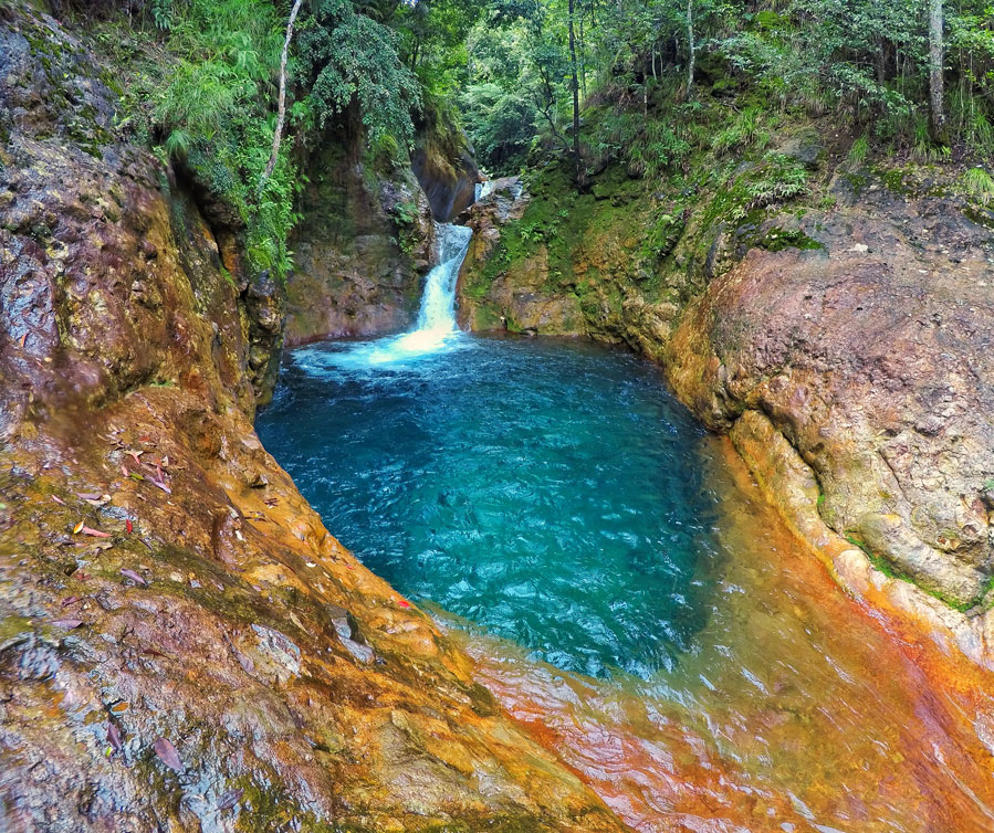 Palaypay Falls in Barangay Abante Pamplona Negros Oriental in Visayas