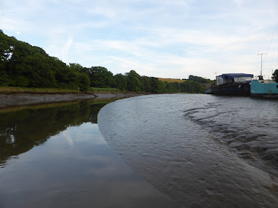 river channel up to treluggan boat yard