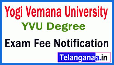 YVU Degree Annual Examination Fee Notification